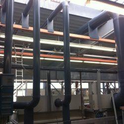Zu- und Abluftleitungen, Zu- und Abluftteile aus PP, PE, PPS, PVDF und PVC